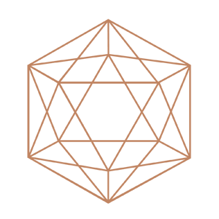 Sacred geometry icosahedron logo- Dr Rene Rodriguez, LAc- Acupuncture Nutrition Herbs Studio City